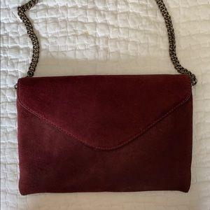 Beautiful 100% leather suede shoulder bag